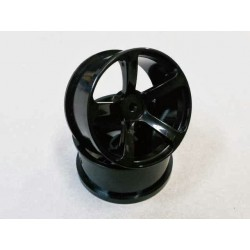 DRS-5 WHEEL BLACK 2pcs