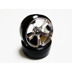 DRS-5 WHEEL MATTE CHROME 2pcs