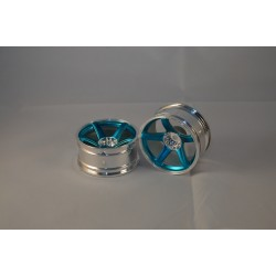 RIM 5 SPOKE BLUE 2PCS